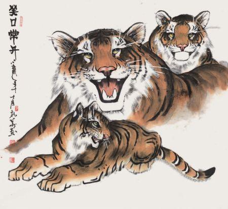 32著名画家马新华绘赠