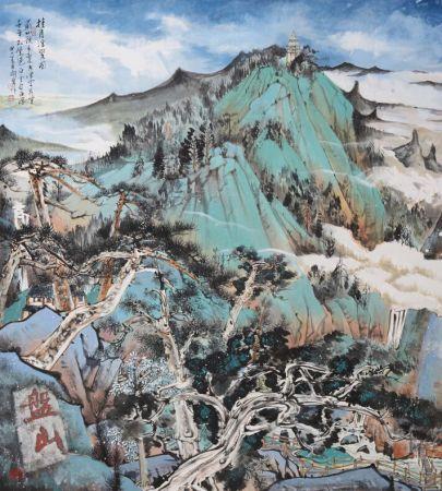 教授闫勇的山水画