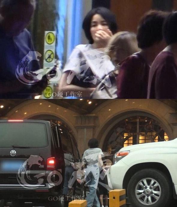 王菲带李嫣外出吃饭(图片来源:Go硬工作室)
